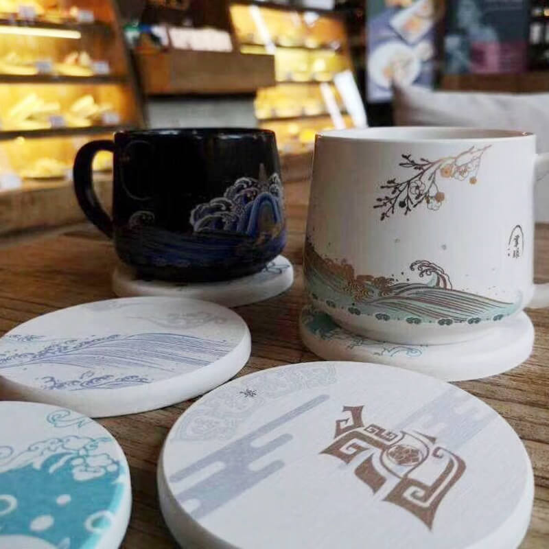 Diatomite Cup Coaster Chinese Summer Palace 3