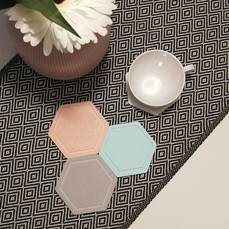 Diatomite Cup Coaster hexagon 1